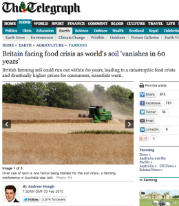 Britain facing food crisis